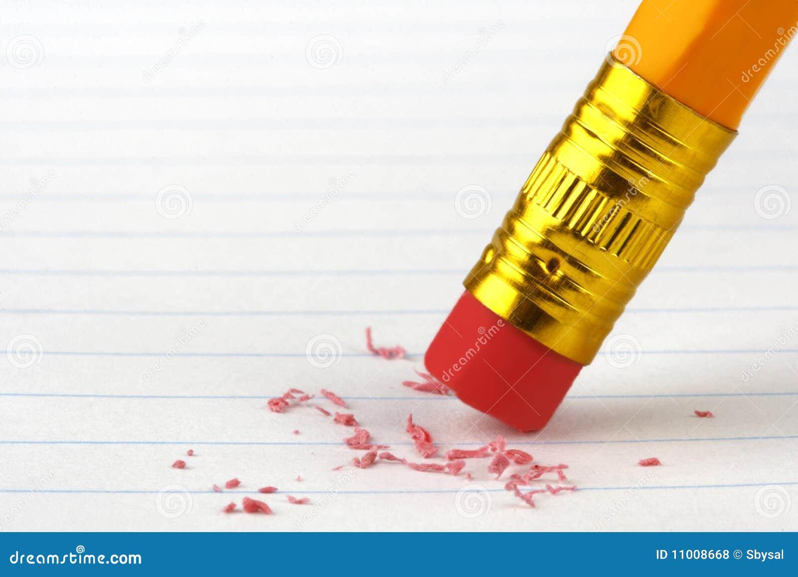 De Gom van het potlood