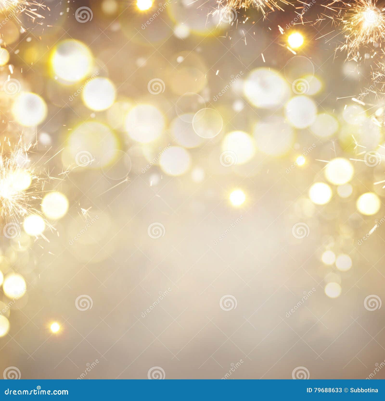 De gouden abstracte achtergrond van de Kerstmisvakantie