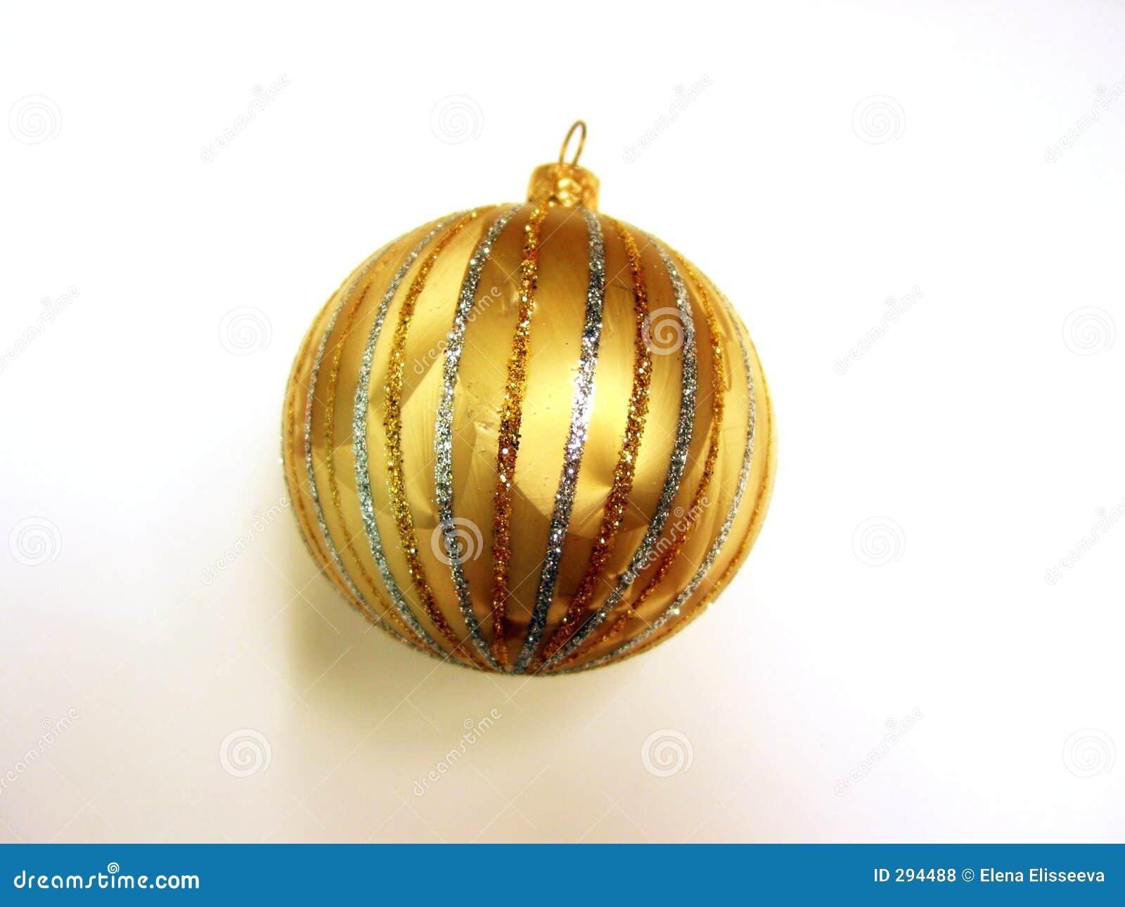 De gouden bal van Kerstmis