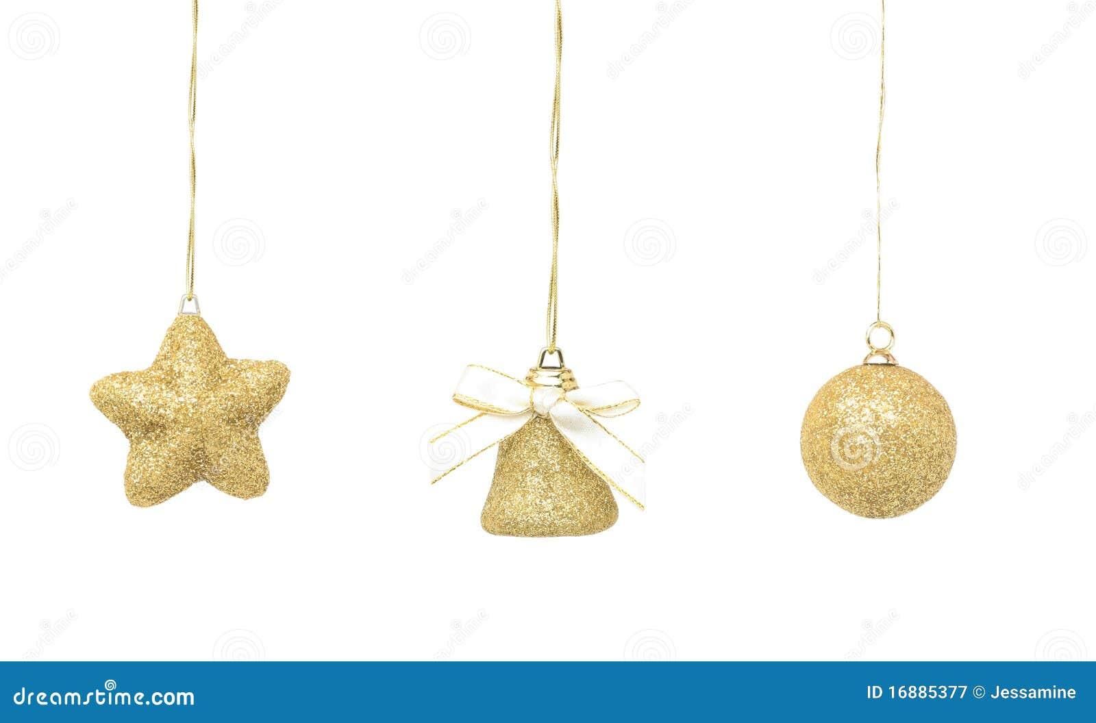 De gouden decoratie van kerstmis royalty vrije stock fotografie afbeelding 16885377 - Decoratie geel ...