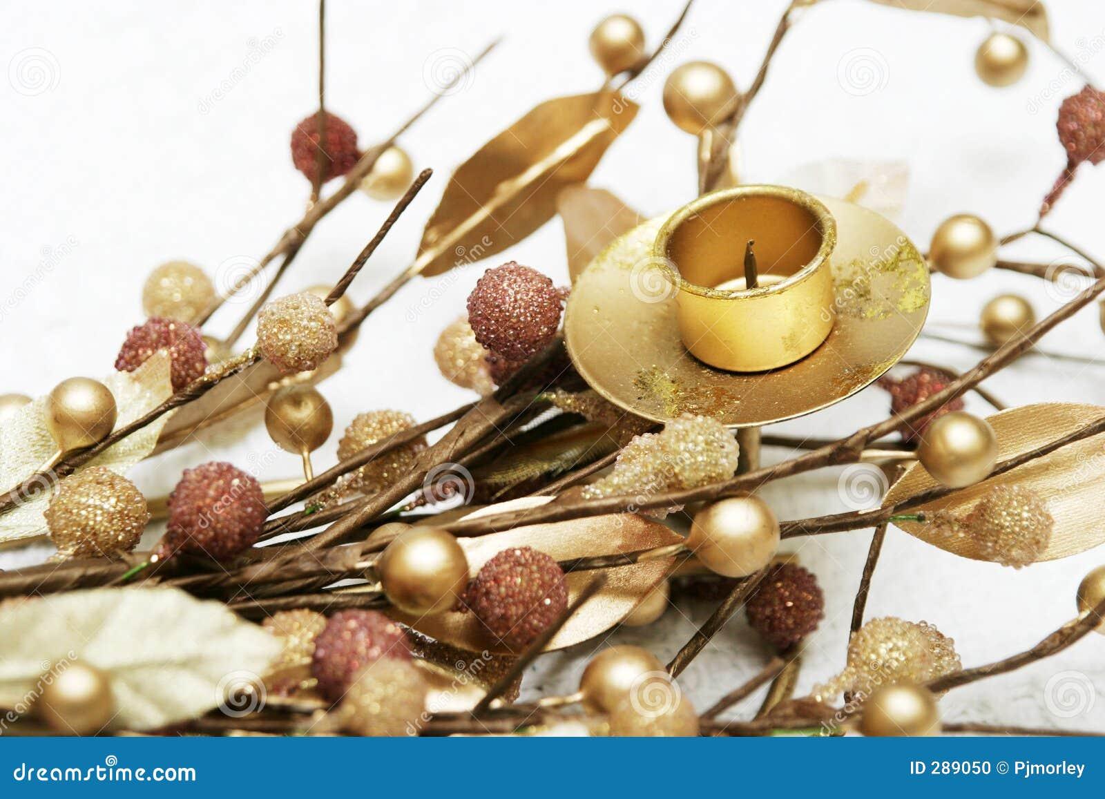De gouden Decoratie van Kerstmis