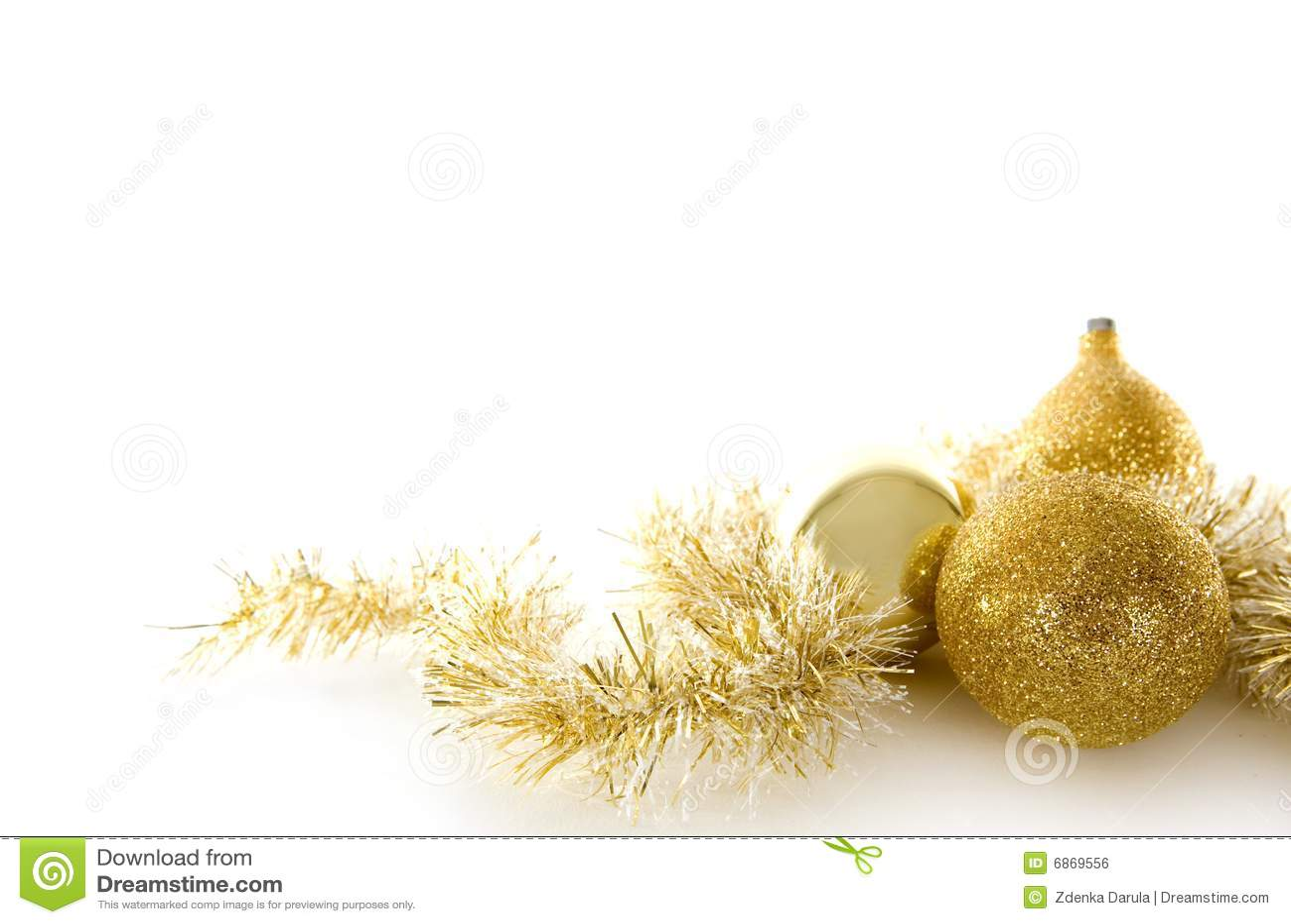 De gouden decoratie van kerstmis royalty vrije stock afbeelding afbeelding 6869556 - Afbeelding van decoratie ...