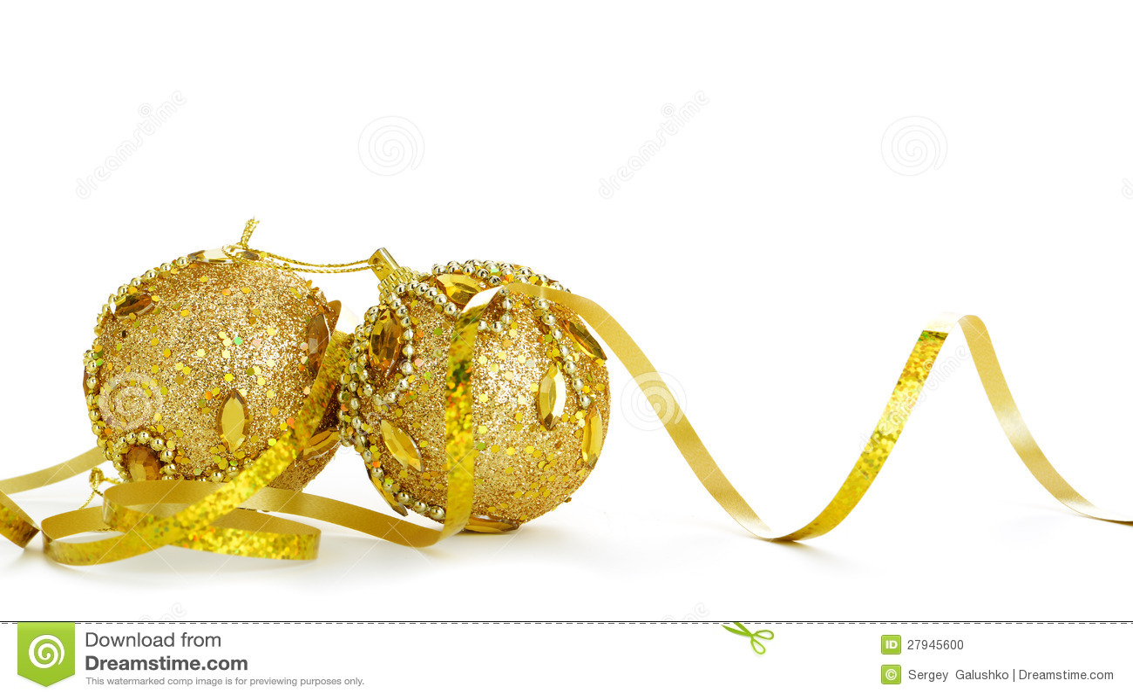 De gouden decoratie van kerstmis van voorwerpen stock foto afbeelding 27945600 - Decoratie van de kamers van de meiden ...