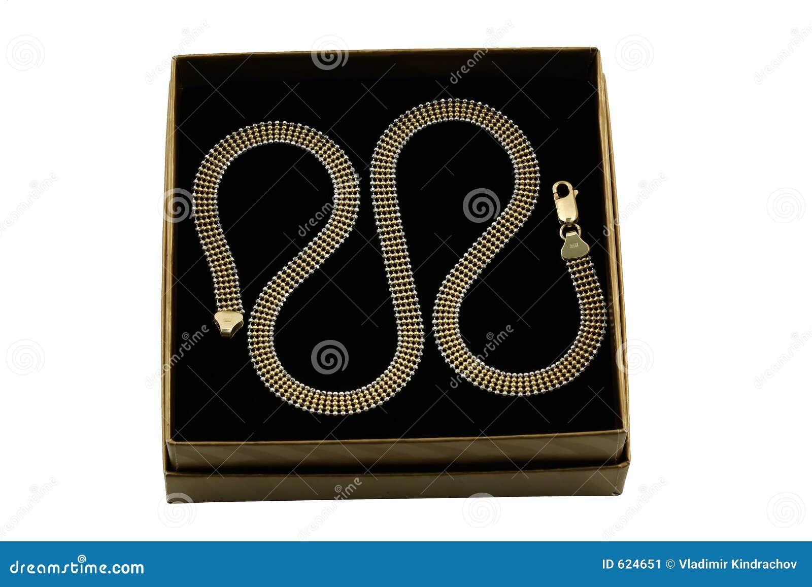 De gouden keten van Jewelery