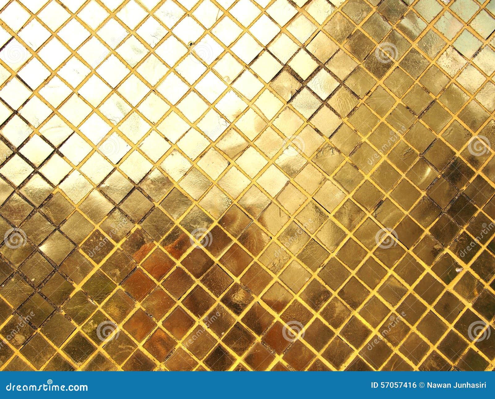 De gouden textuur van de Mozaïektegel
