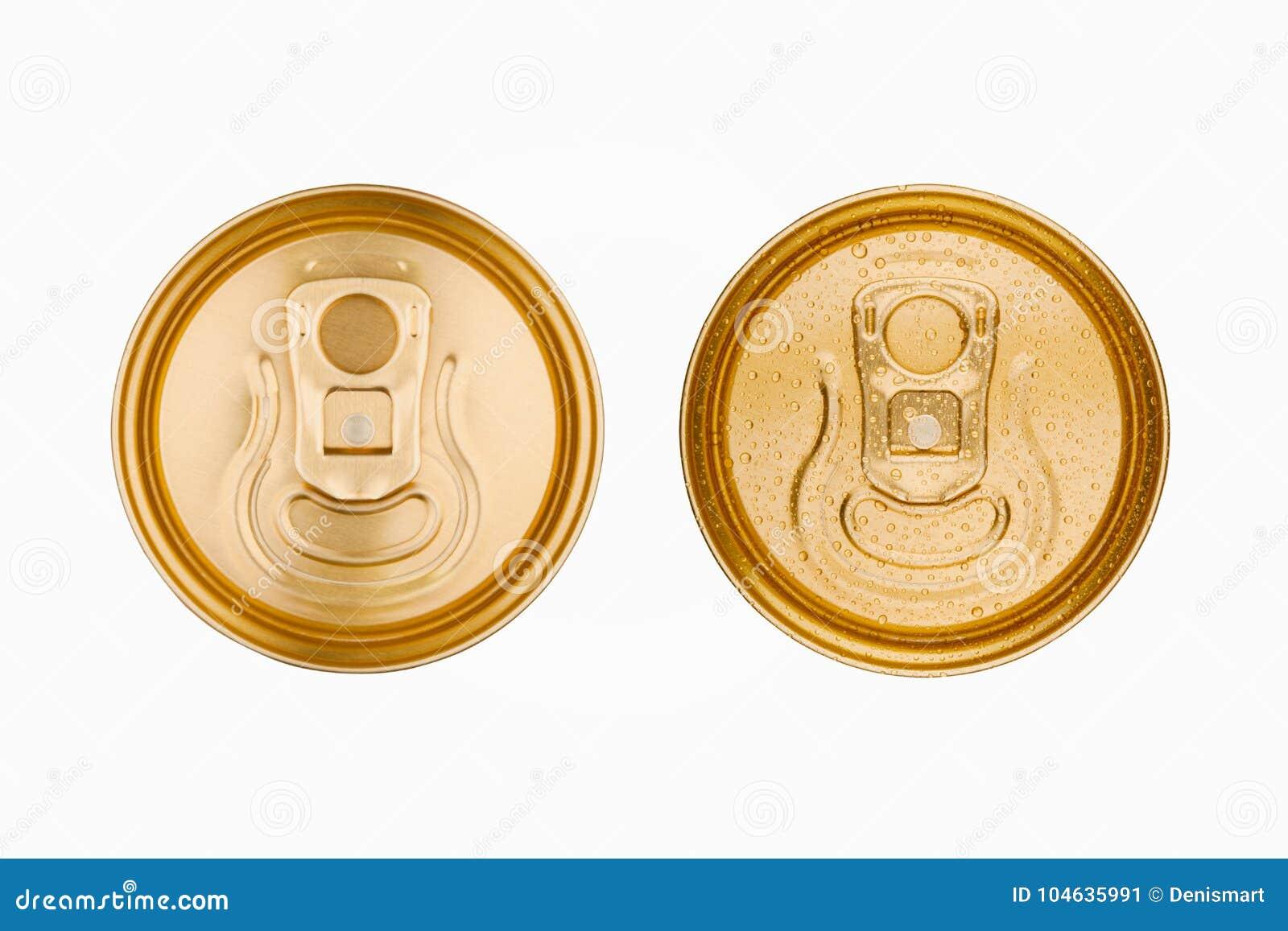 Download De Gouden Van Het De Dranktin Van De Aluminiumsoda Hoogste Geïsoleerde Mening Stock Afbeelding - Afbeelding bestaande uit daling, container: 104635991