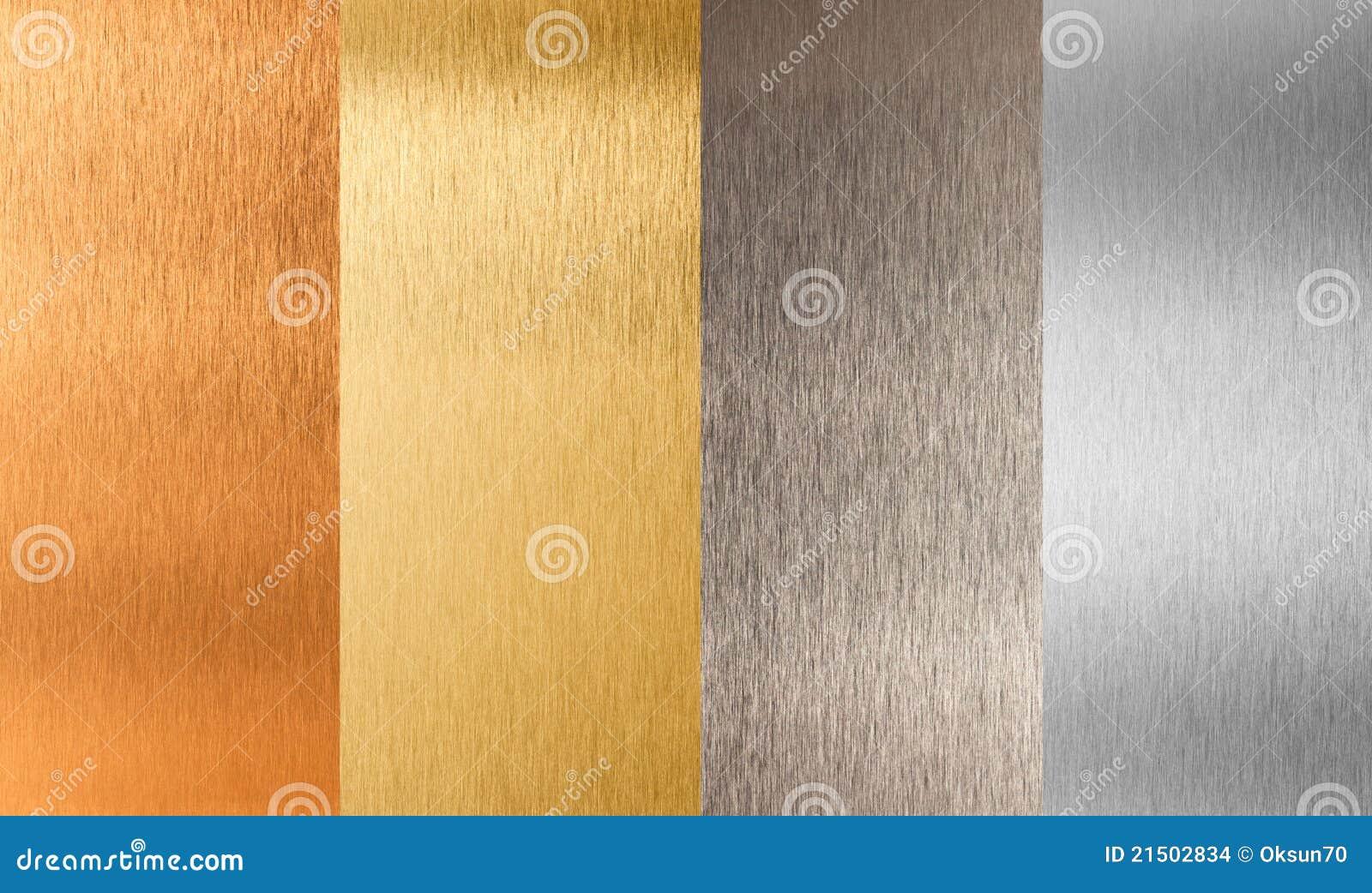 De gouden zilveren reeks van het brons non-ferro metaal