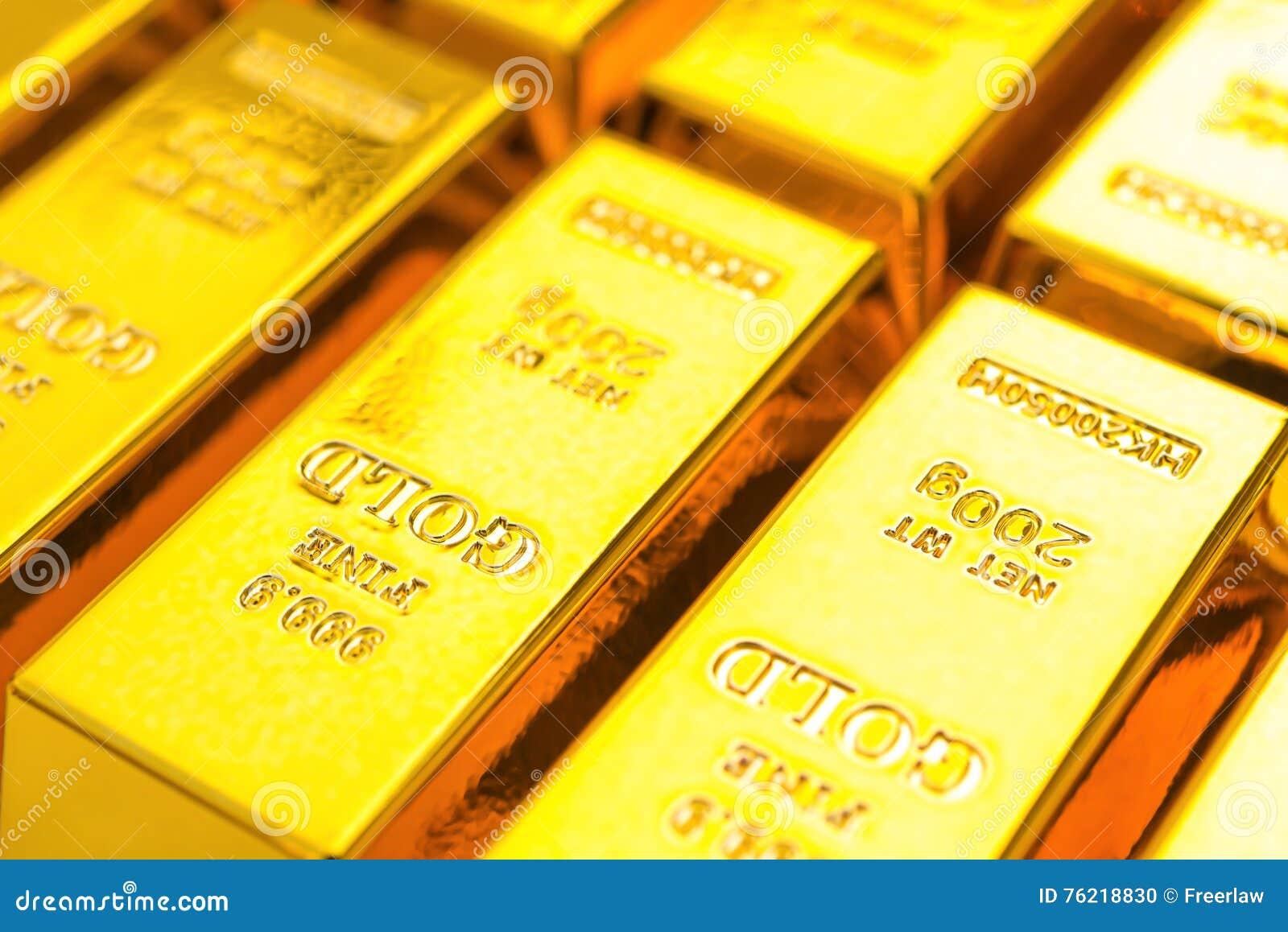 De goudstaven sluiten omhoog