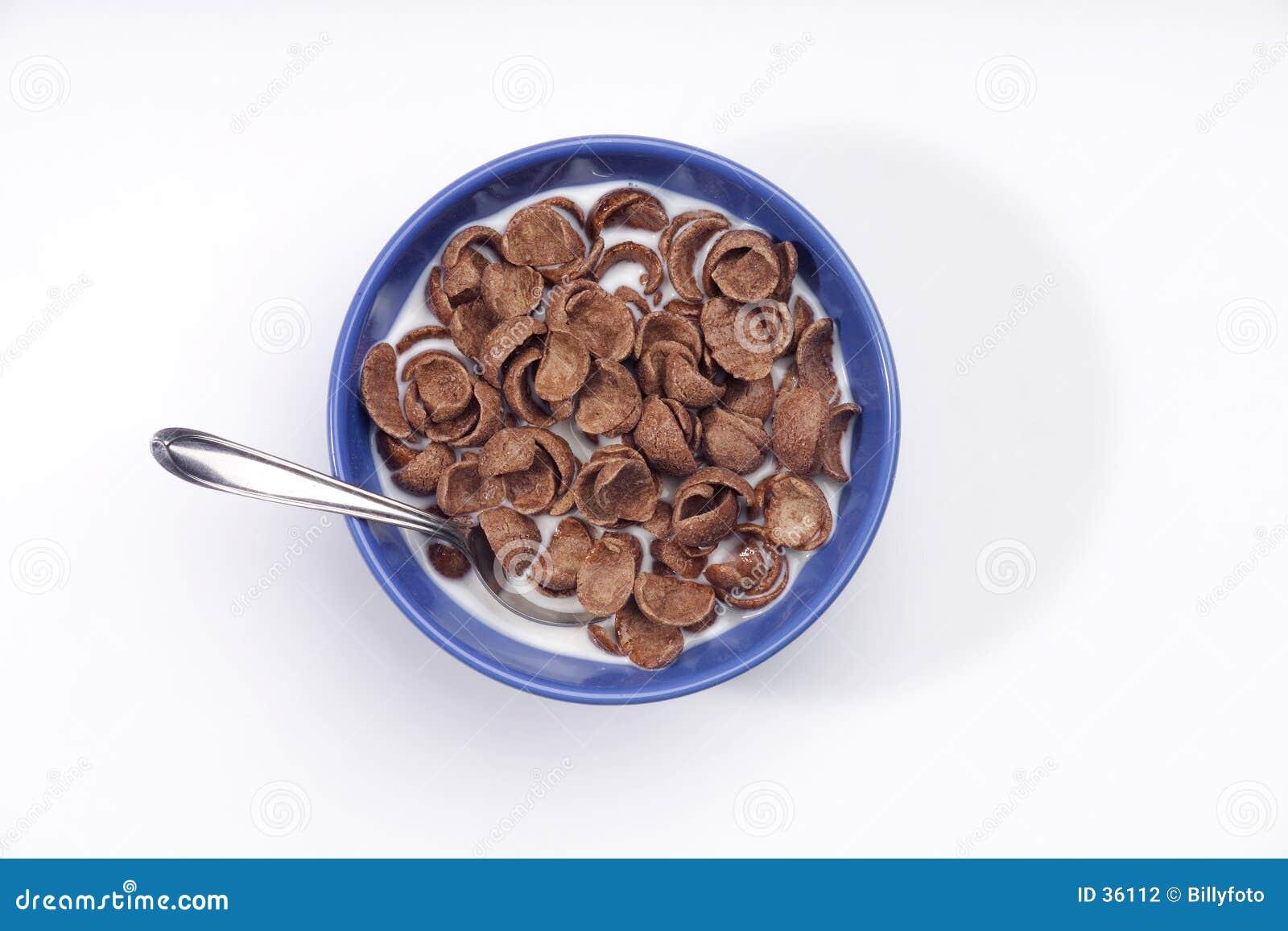 De graangewassen van de chocolade