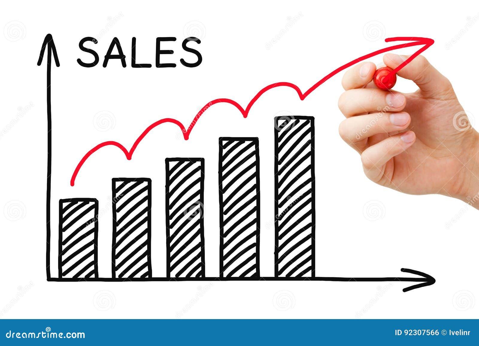 De Grafiek van de verkoopgroei