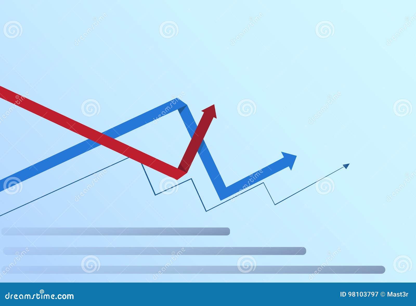 De grafische Vastgestelde van de Bedrijfs grafiekinfographic van Financiënpijlen Financiële Groei