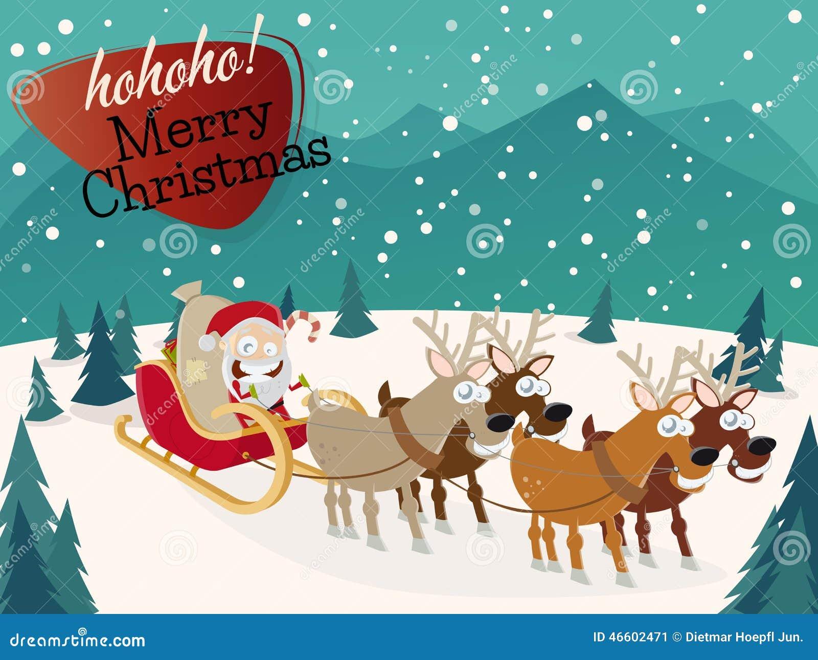 De Grappige Achtergrond Van Kerstmis Stock Illustratie