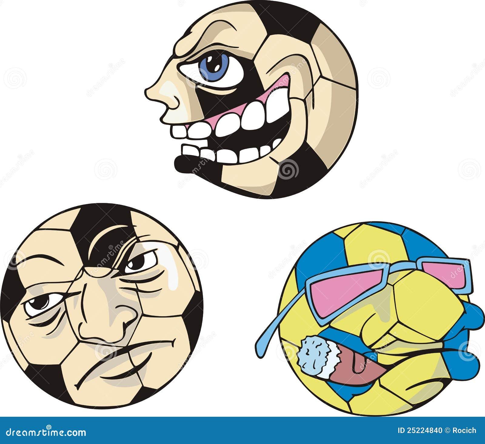 Grappige Citaten Voetbal : De grappige ballen van het voetbal vector illustratie