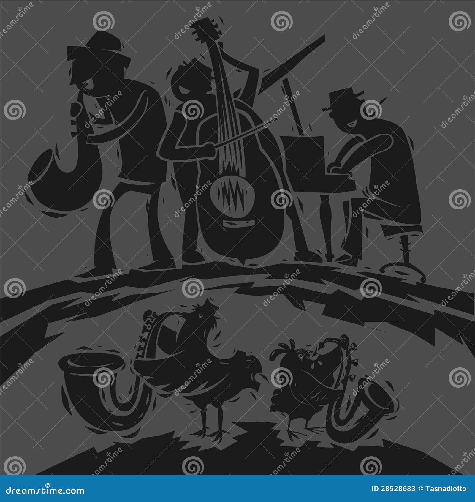 De grappige Musici van de Jazz