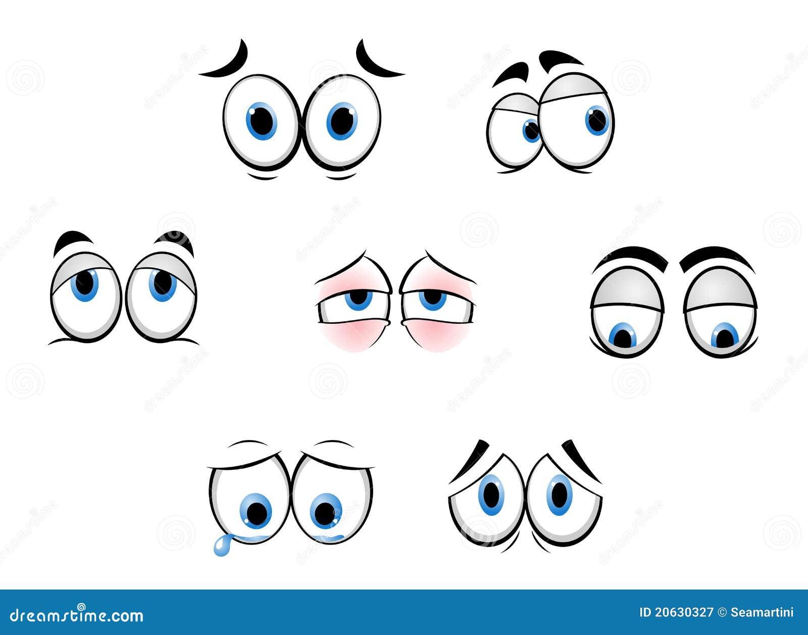 De grappige ogen van het beeldverhaal royalty vrije stock fotografie afbeelding 20630327 - Ogen grappig ...