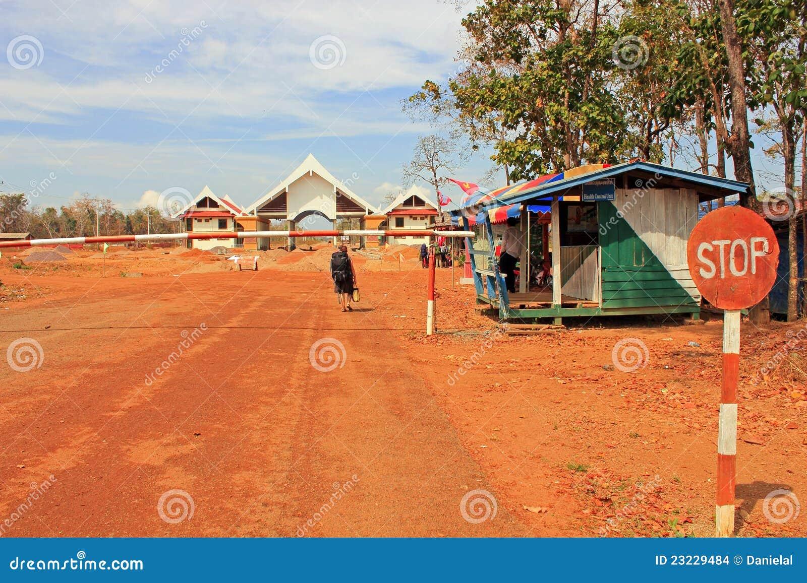 De Grens van Kambodja - van Laos