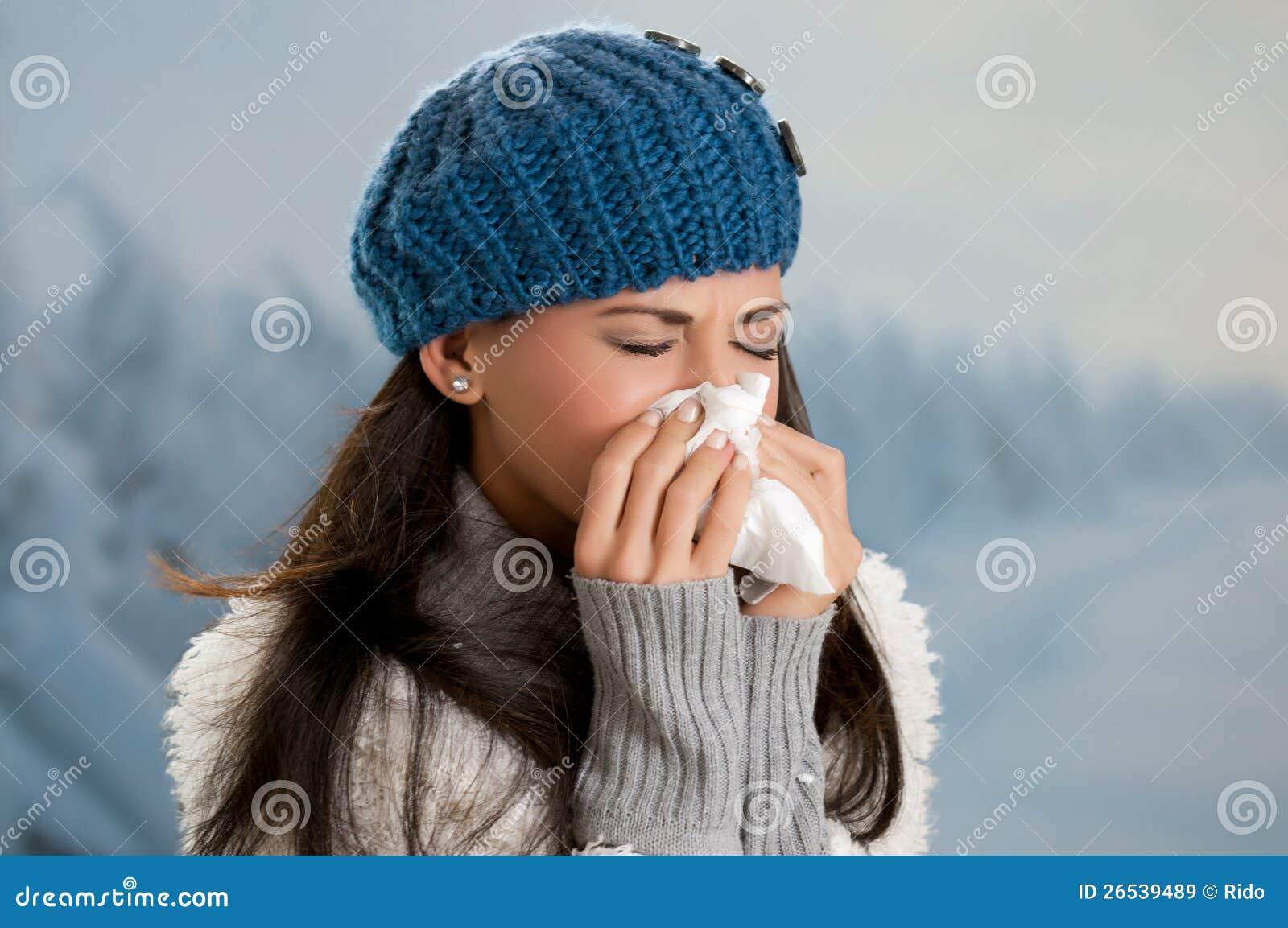 De griep en de koorts van de winter