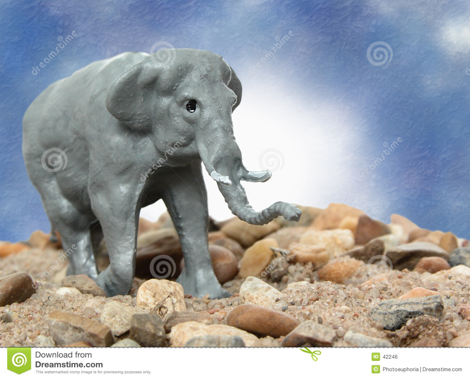 De Grijze Olifant van het stuk speelgoed
