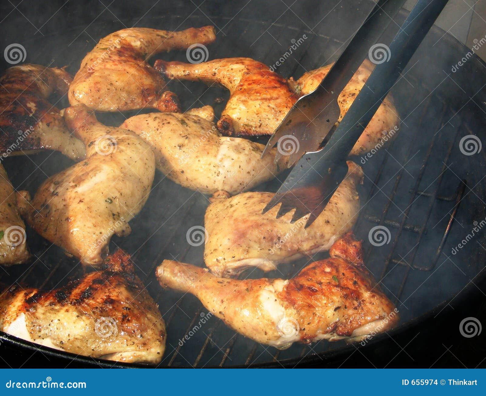 De grill van de kip