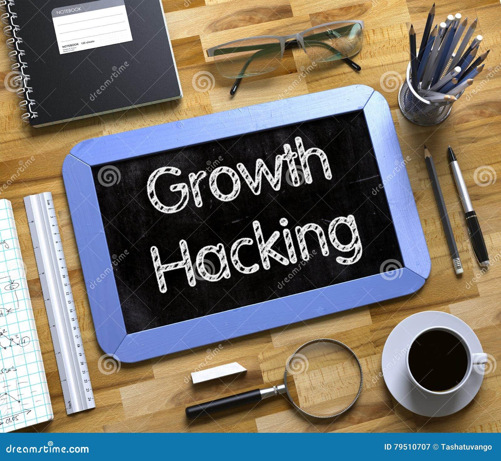 De groei het Binnendringen in een beveiligd computersysteem - Tekst op Klein Bord 3d
