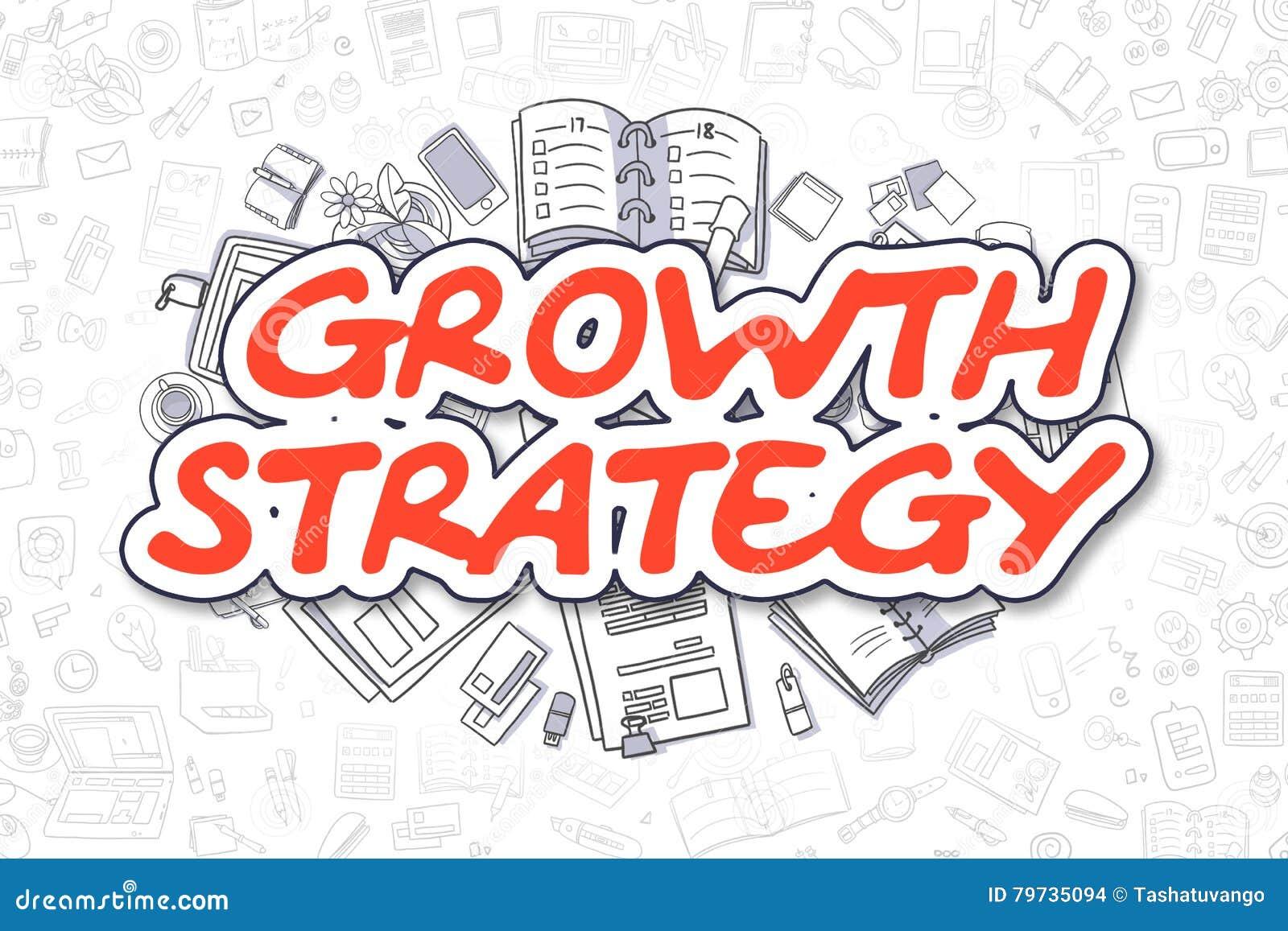 De groeistrategie - Beeldverhaal Rood Word Bedrijfs concept