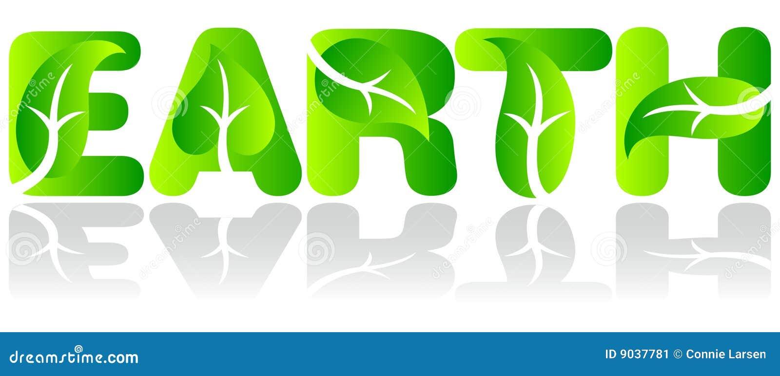 De groene Aarde van de Ecologie