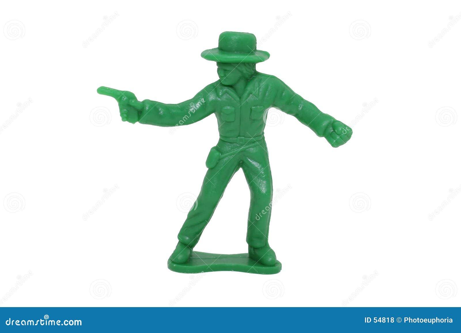De Groene Cowboy van het stuk speelgoed (Beeld 8.2mp)