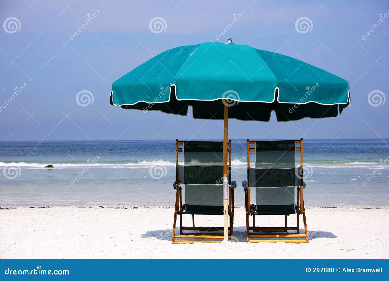 De groene Paraplu van het Strand