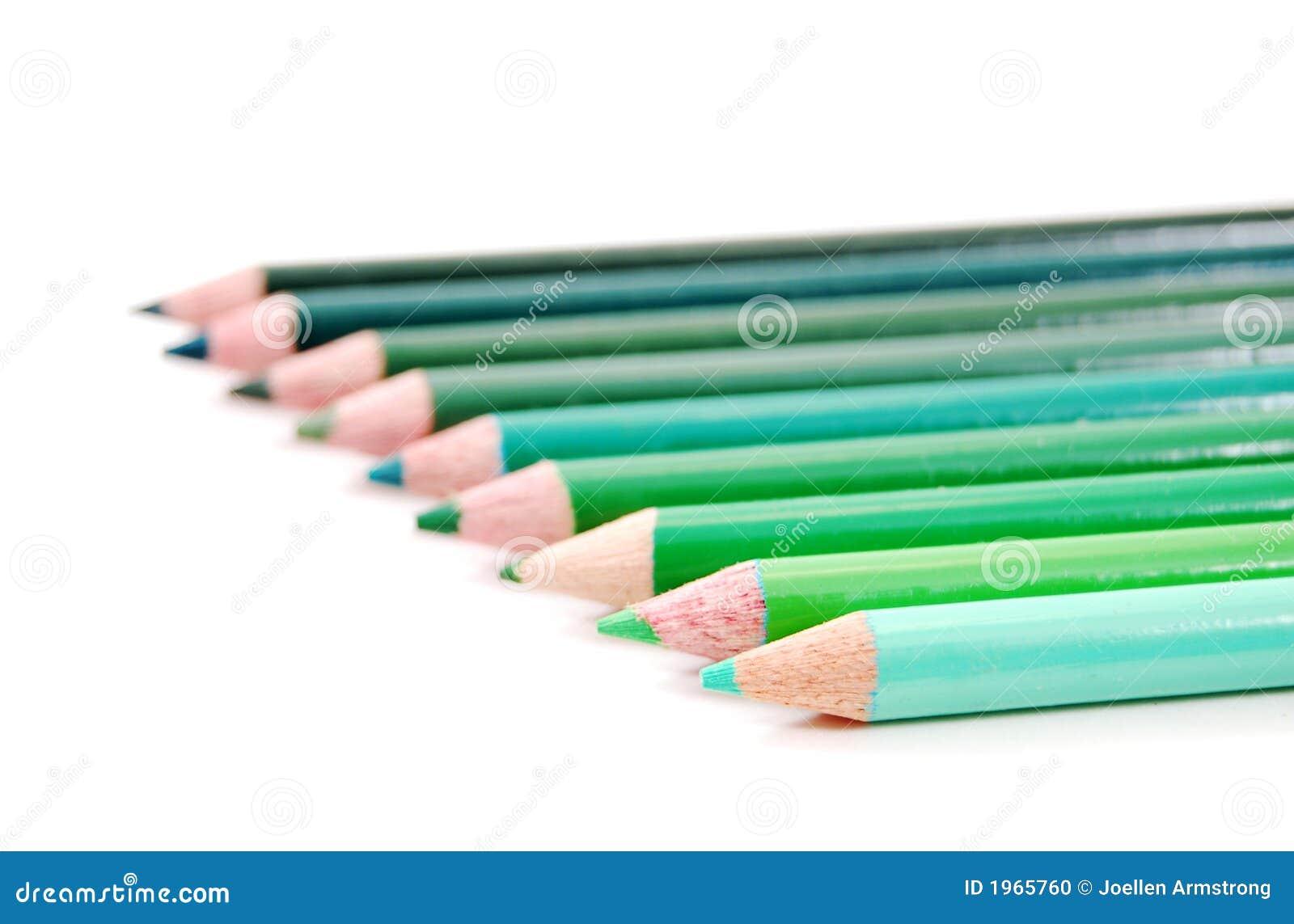 De groene potloden van de kleur stock foto afbeelding 1965760 - Kleur van een volwassen kamer ...