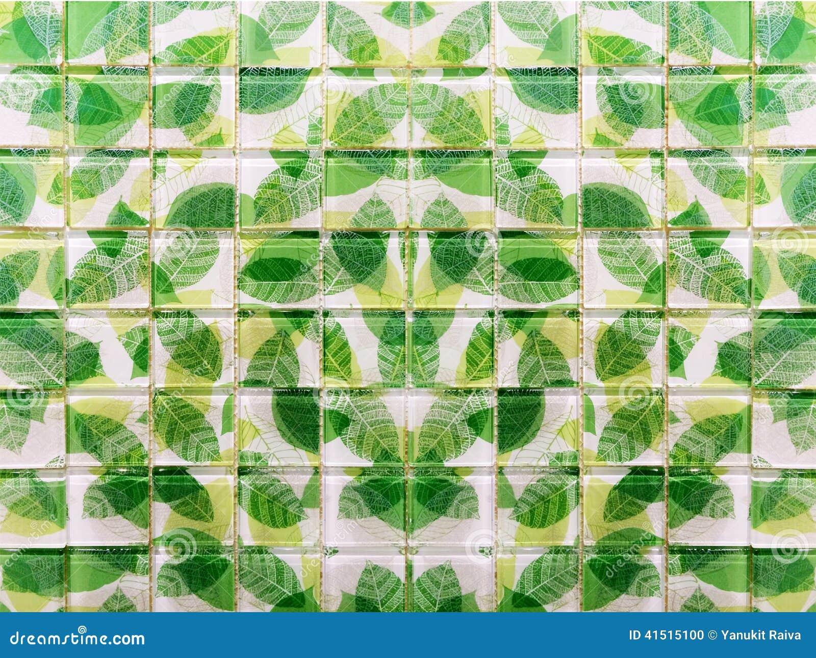Groene mozaïektegels voor badkamers en keuken royalty vrije stock ...