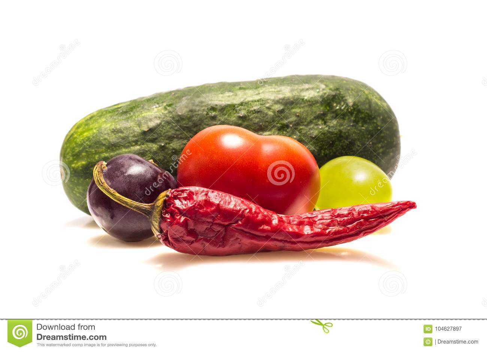 Download De Groenten En De Vruchten Zijn Rijk Aan Vitaminen Stock Afbeelding - Afbeelding bestaande uit glans, gezond: 104627897