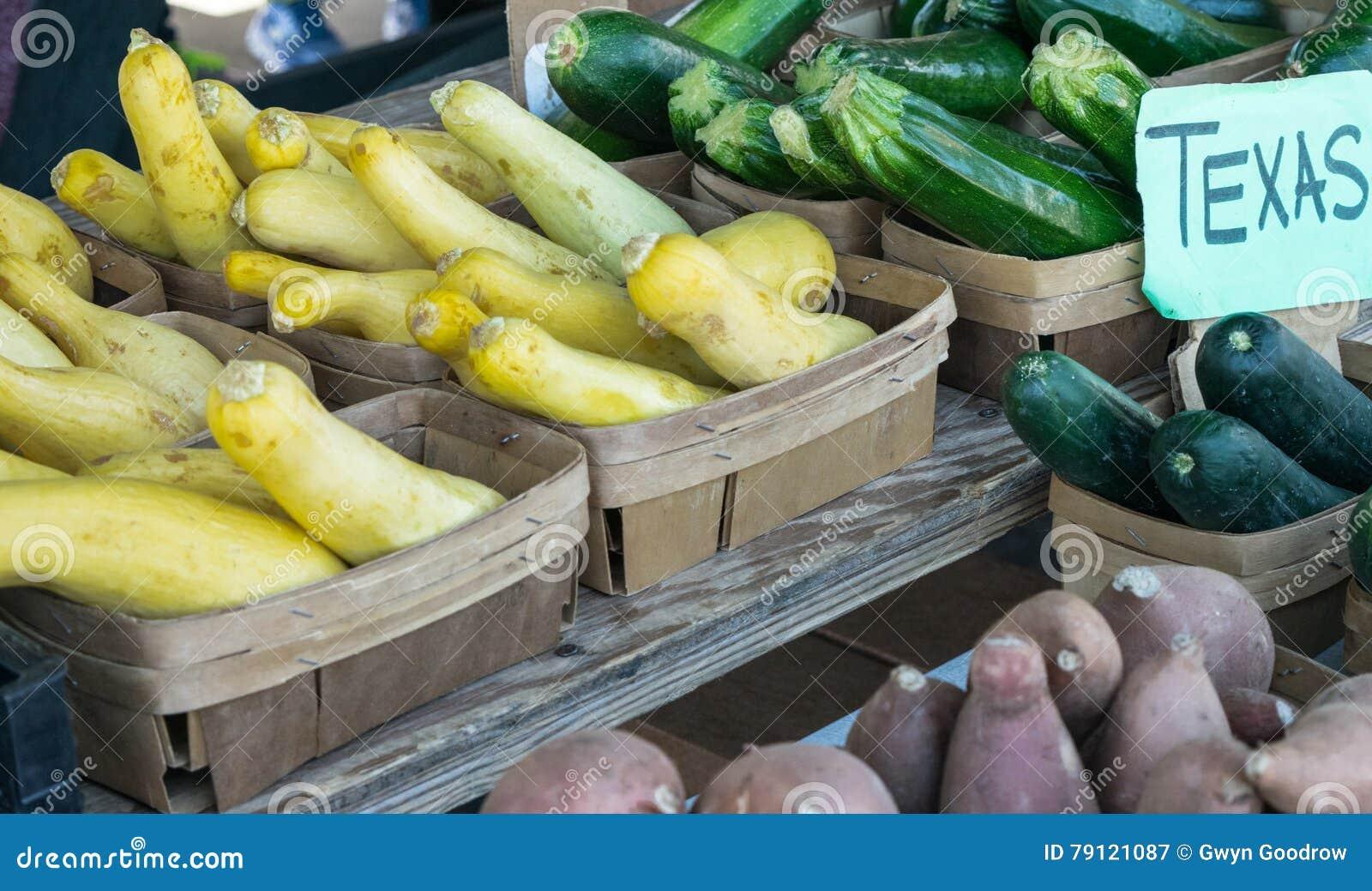 De Groenten van de de Marktopbrengst van Texas Farmer ` s