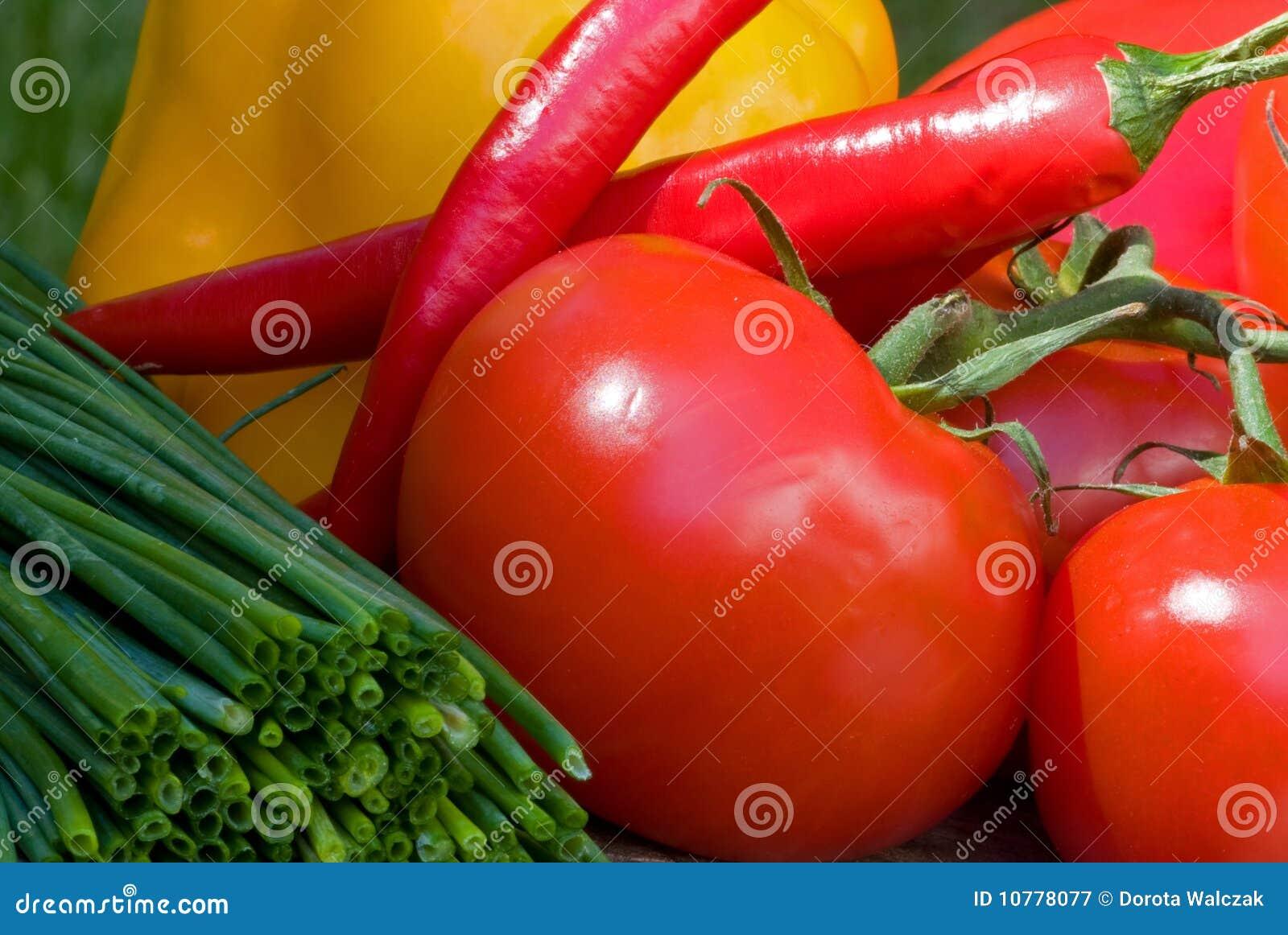 De groenten van de zomer