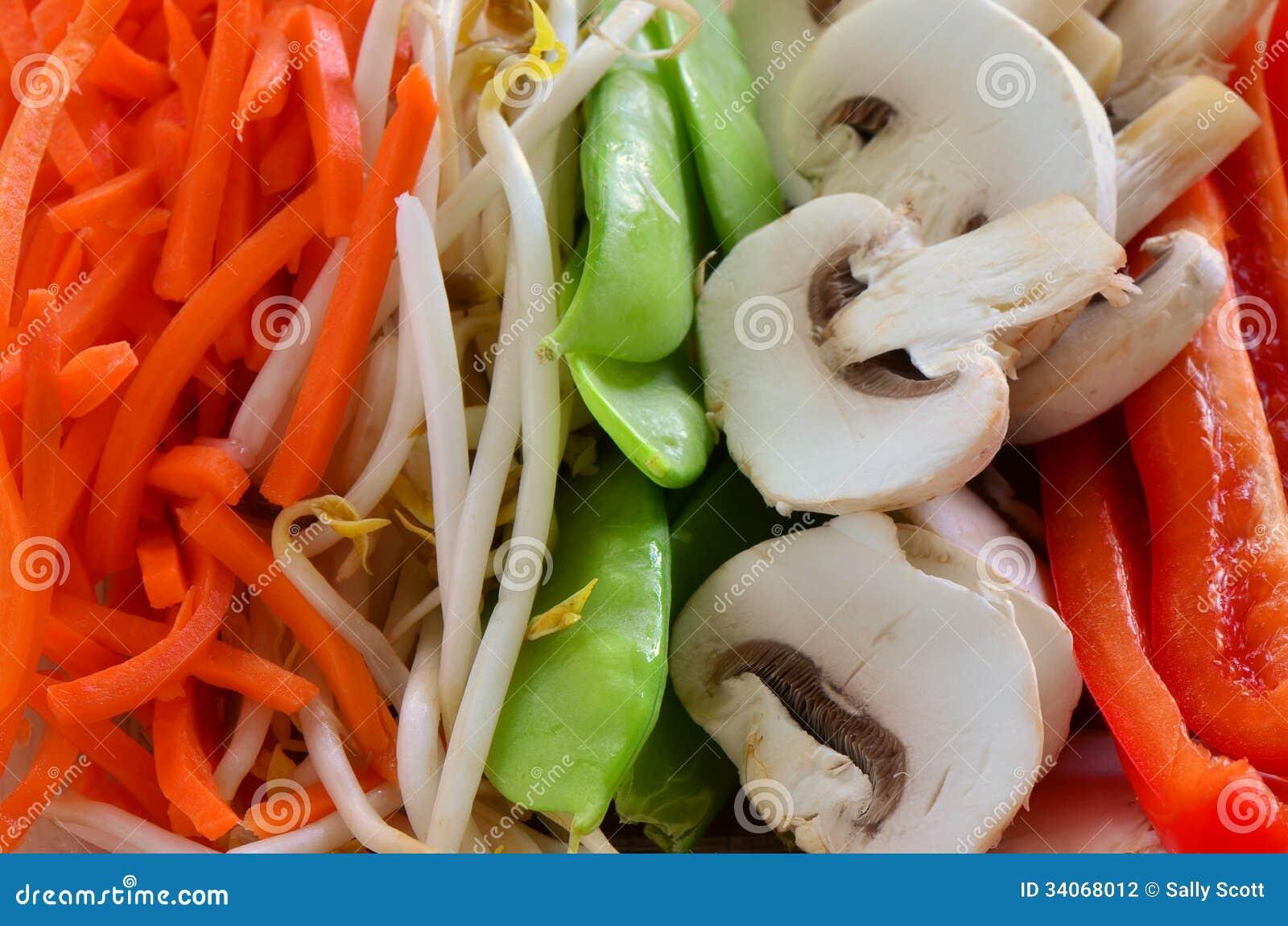 De groenten voor bewegen gebraden gerecht