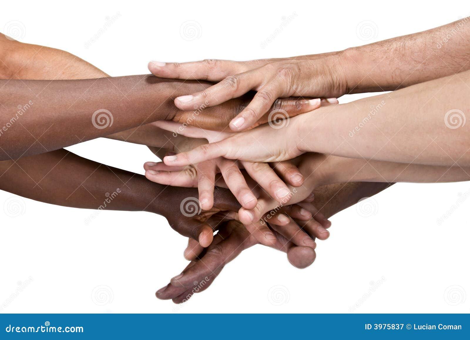 De groep van handen