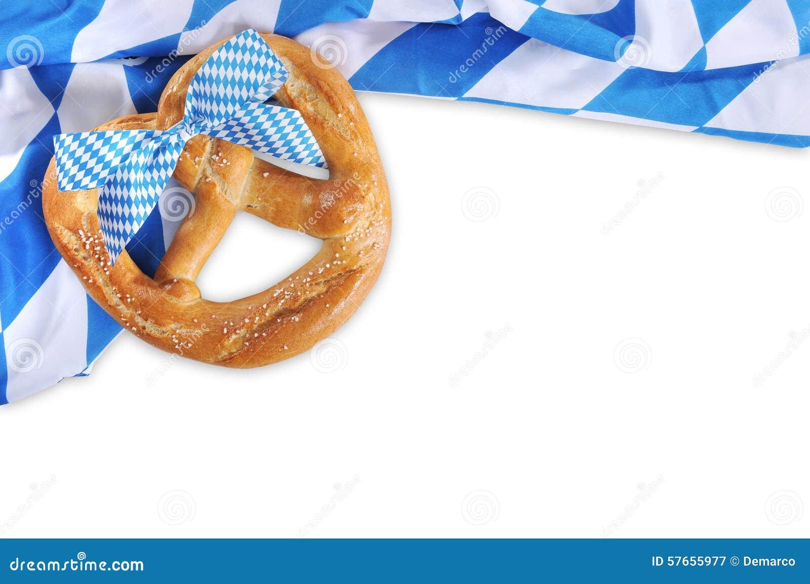 De grote Beierse zachte pretzel van Oktoberfest