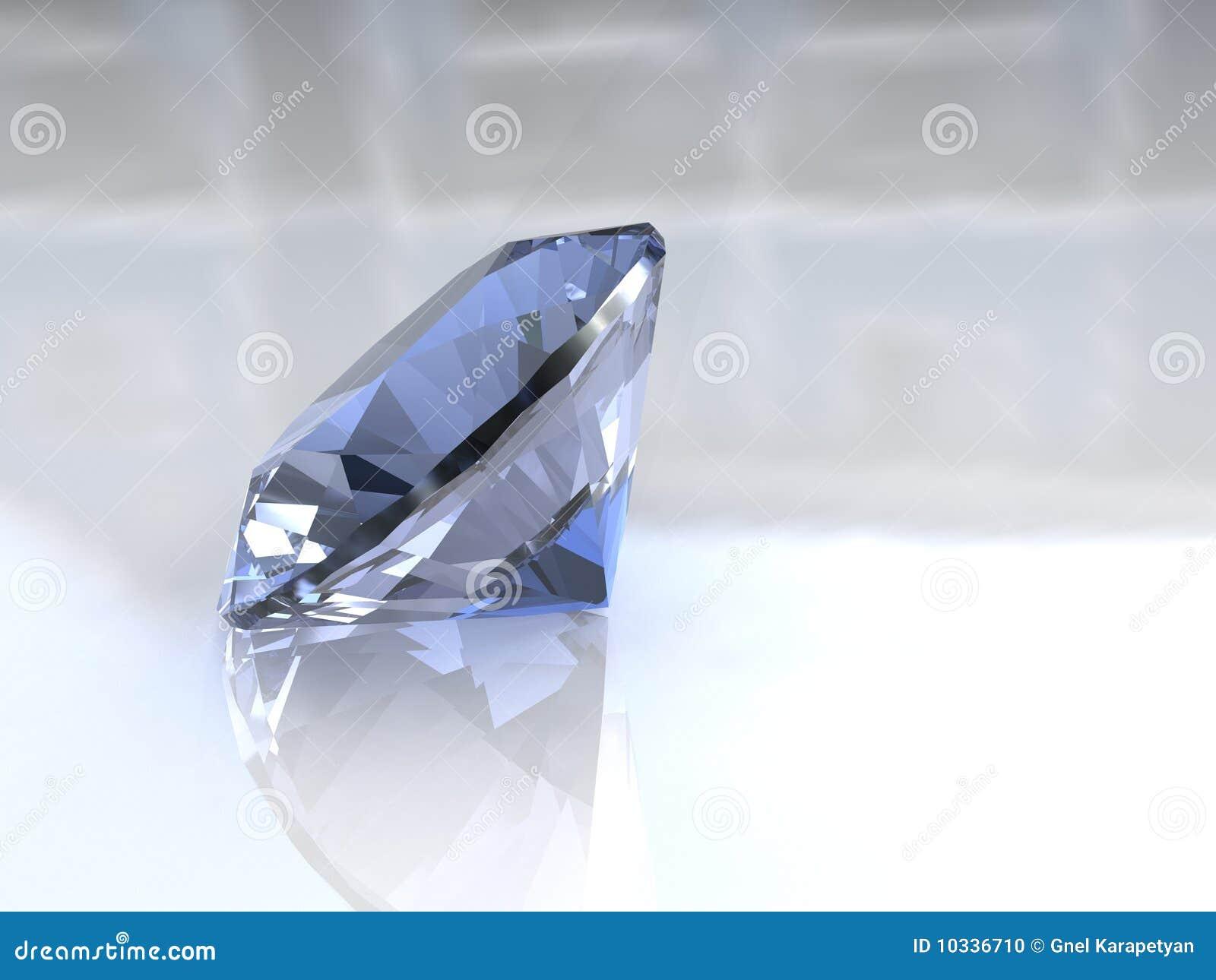 De grote diamant van de hemel blauwe euro besnoeiing