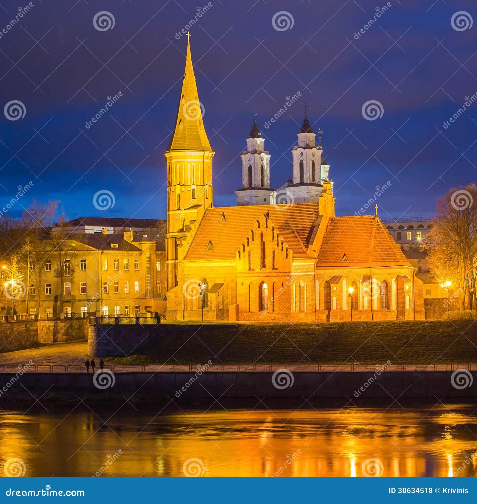 De grote Kerk van Vytautas in Kaunas, Litouwen