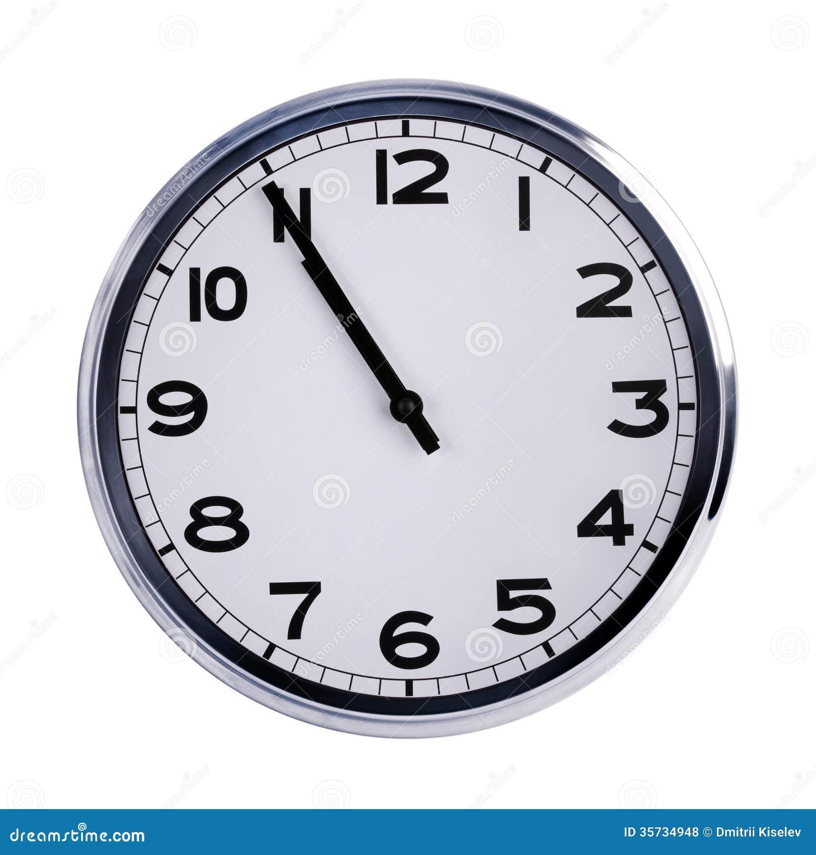 De grote klok toont vijf minuten aan elf stock foto afbeelding 35734948 - Uur pm balances ...