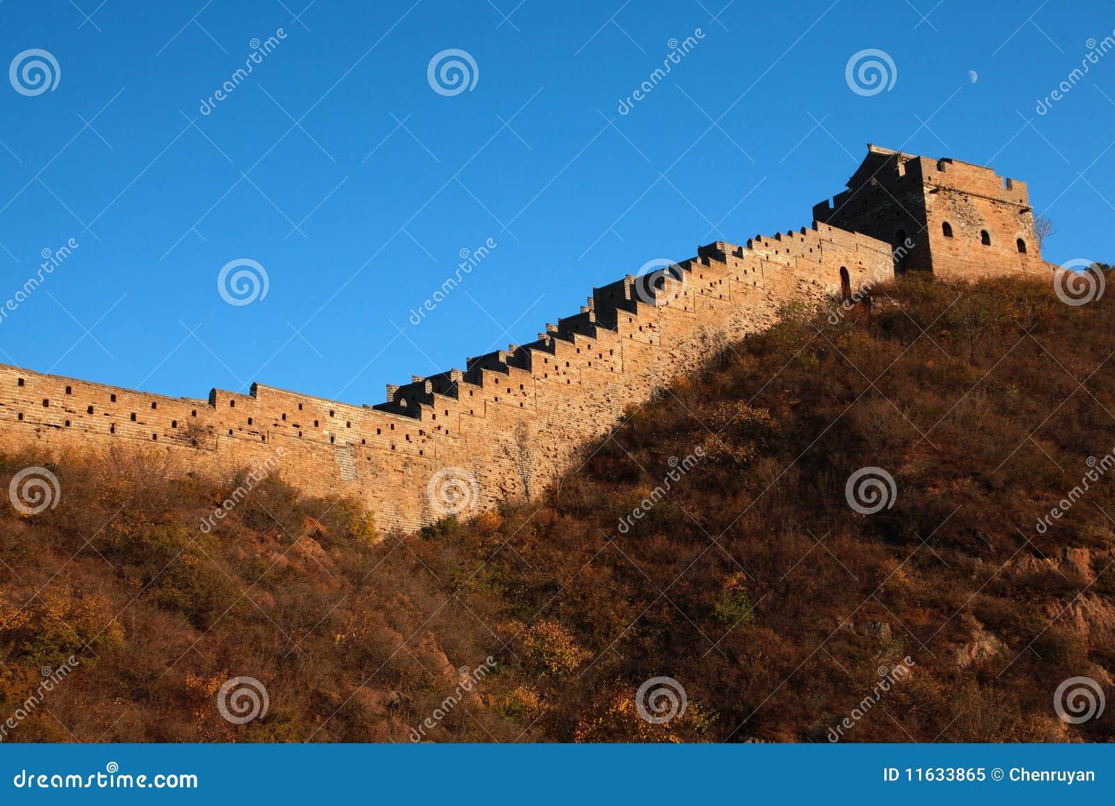 De grote muur van china stock afbeelding afbeelding bestaande uit chinees 11633865 - Muur van de ingang ...