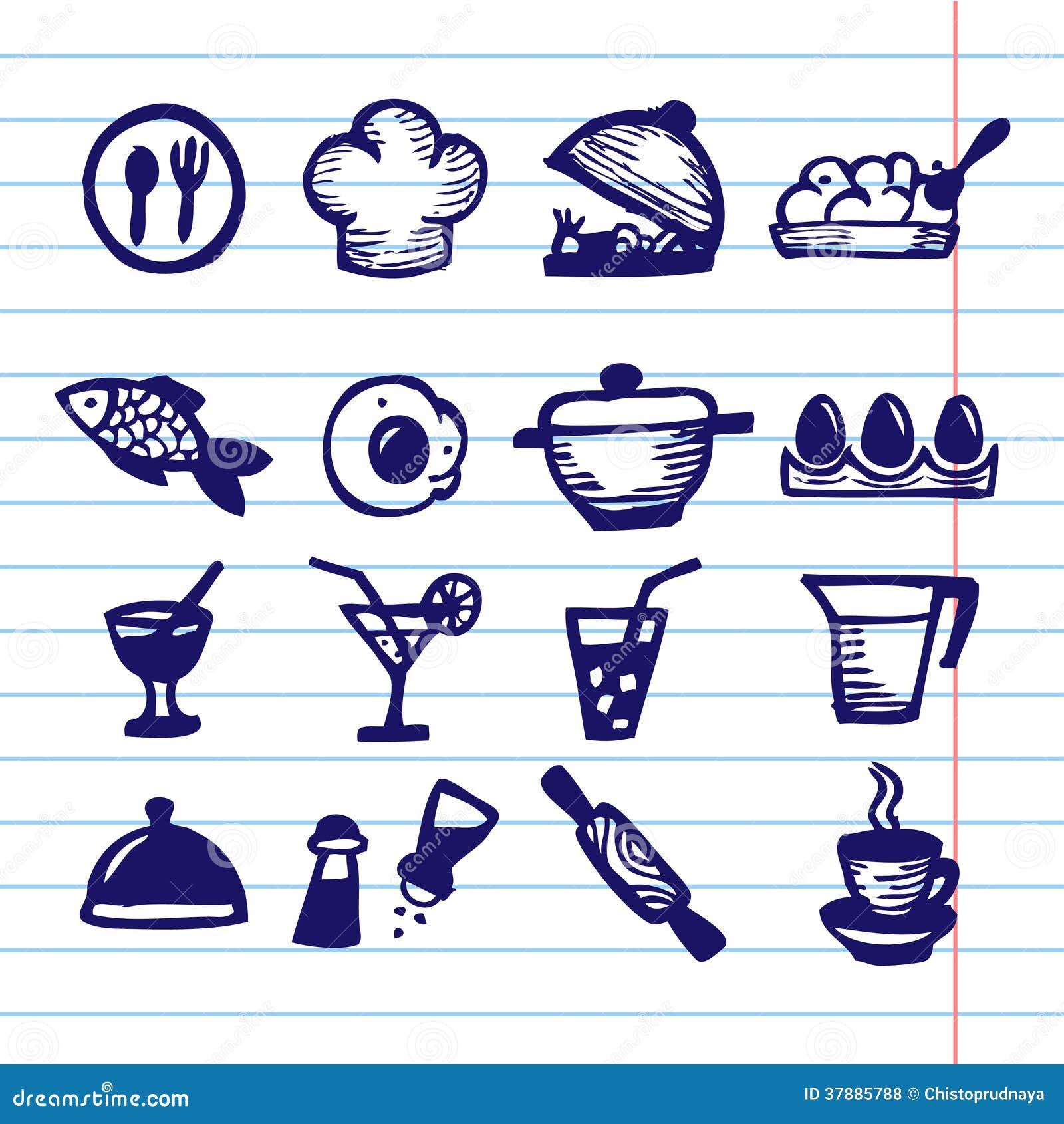 De grote reeks van het voedselpictogram