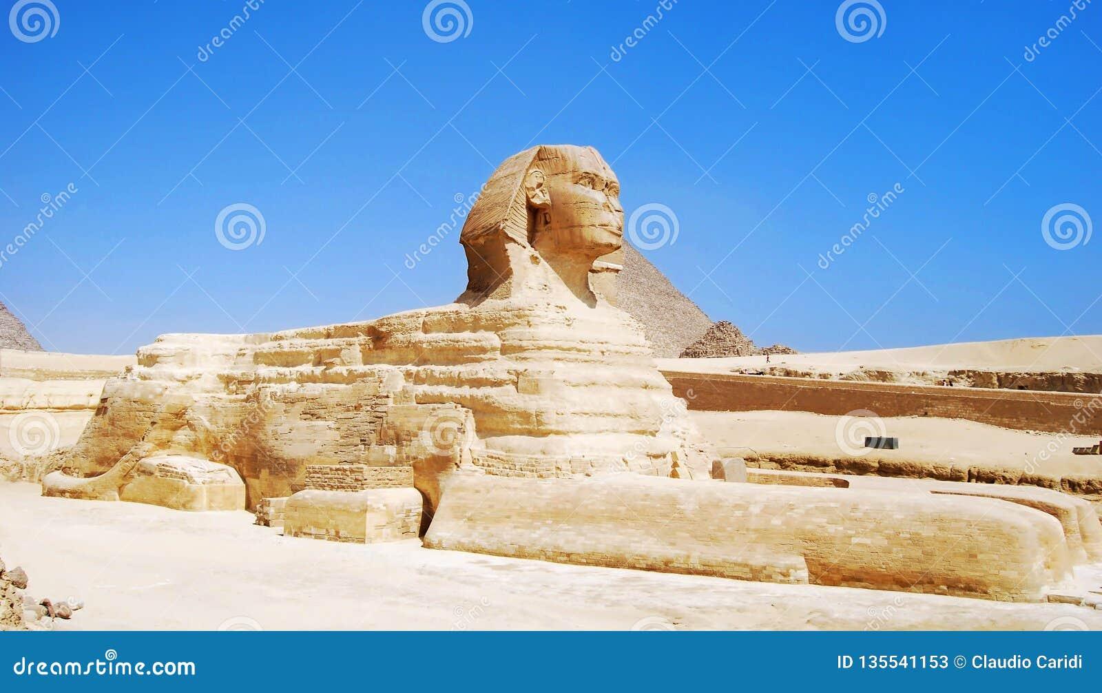 De Grote Sfinx in Giza, Egypte