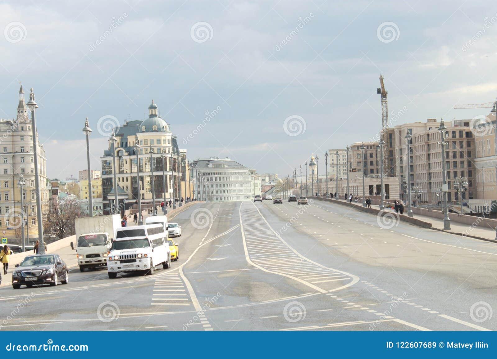 De Grote Steenbrug in Moskou Rusland