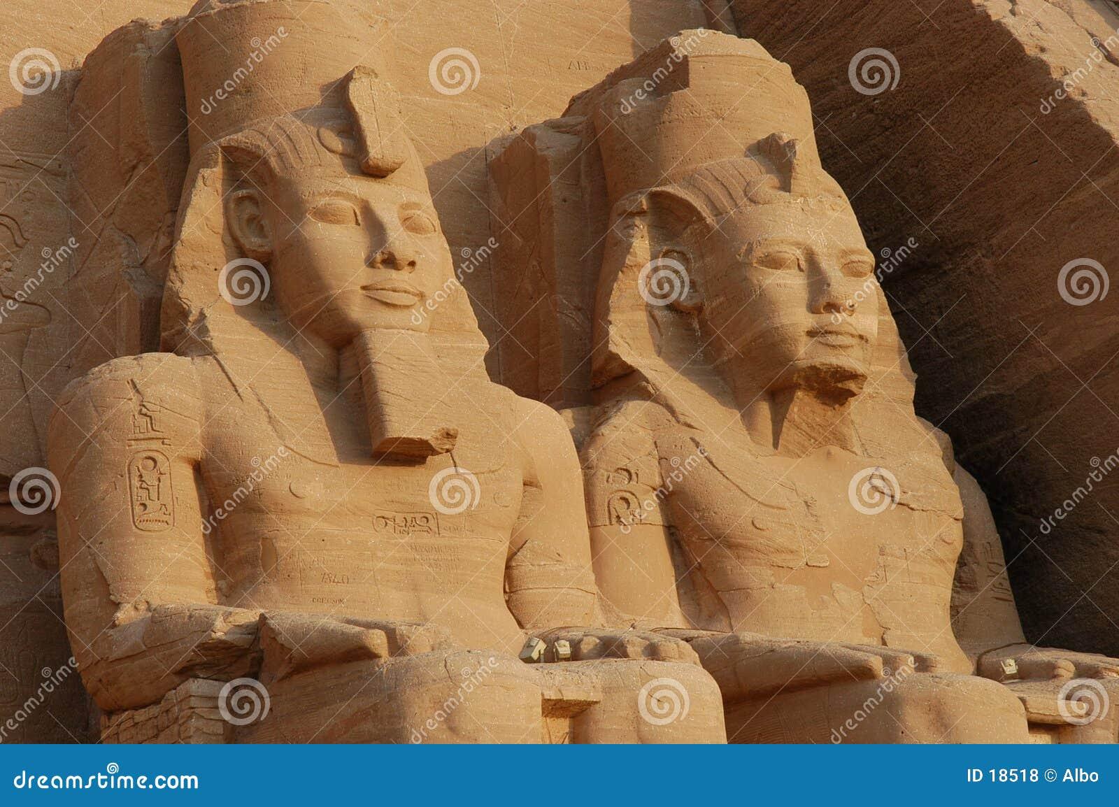 De Grote Tempel van Simbel van Abu