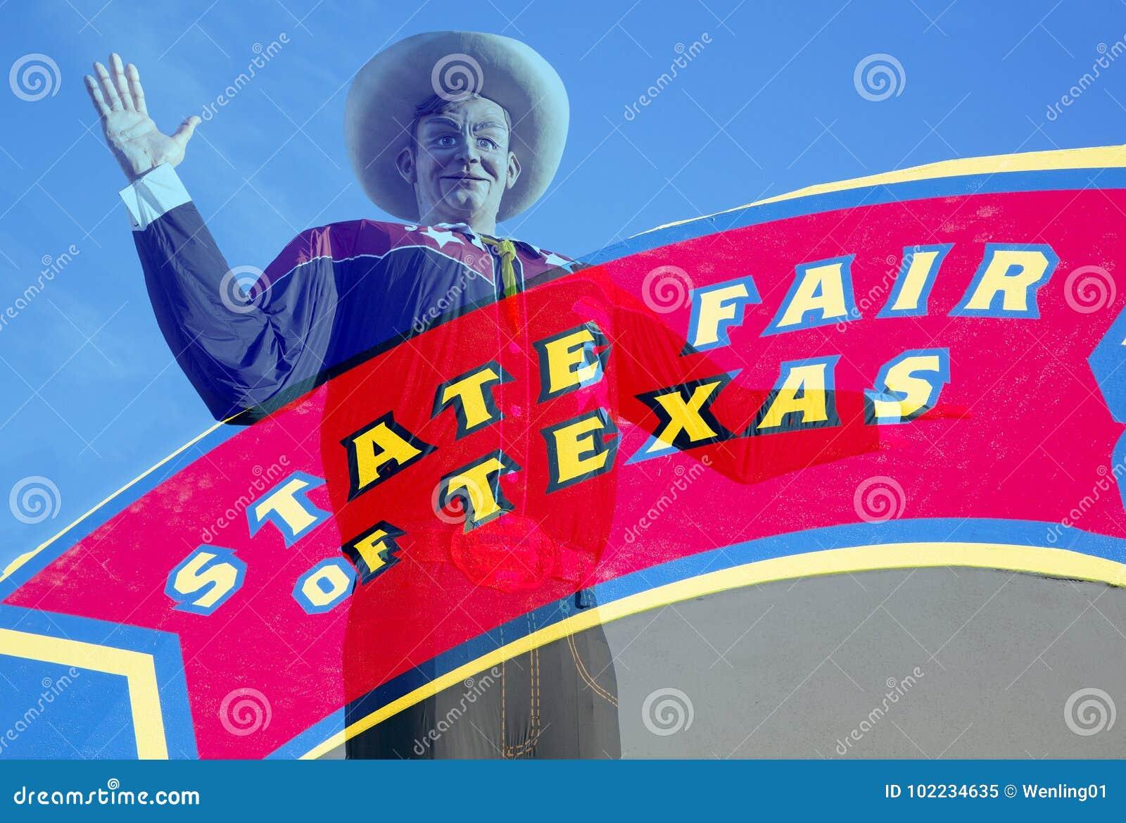 De grote Tex en Markt van de Staat van het teken van Texas