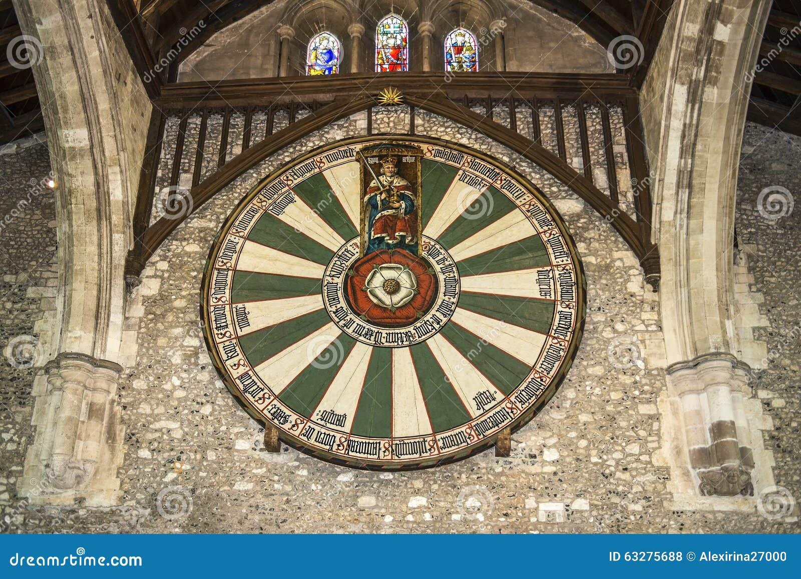 De Grote Zaal van het Kasteel van Winchester in Hampshire, Engeland