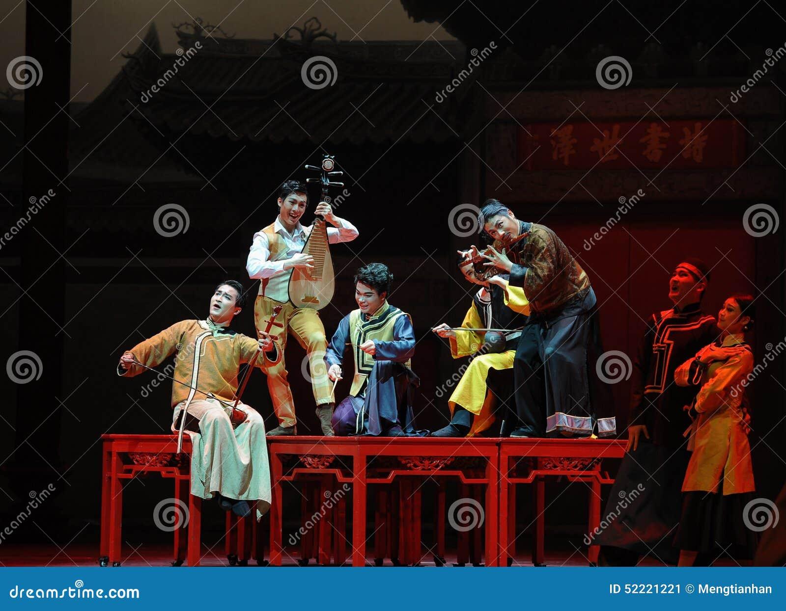 De Guangdong da música da orquestra- ato nacional primeiramente de eventos do drama-Shawan da dança do passado