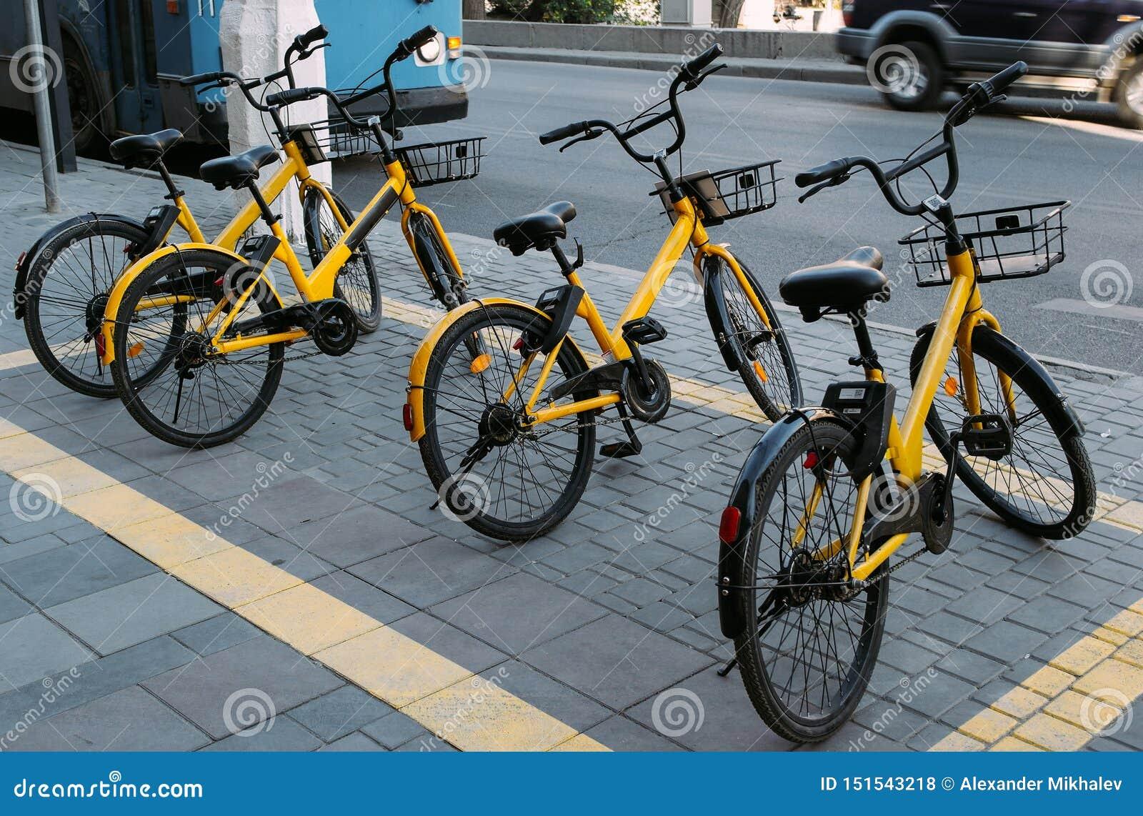 De gula cyklarna för hyra