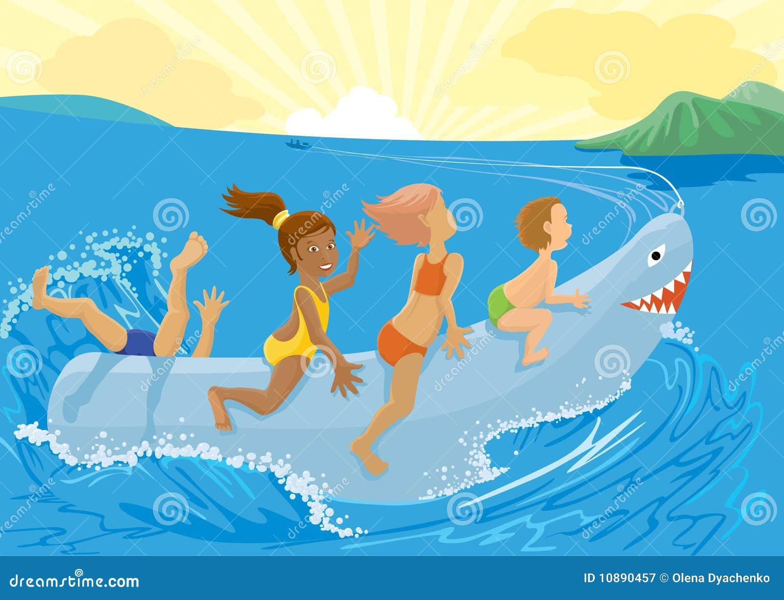 De haai van het stuk speelgoed