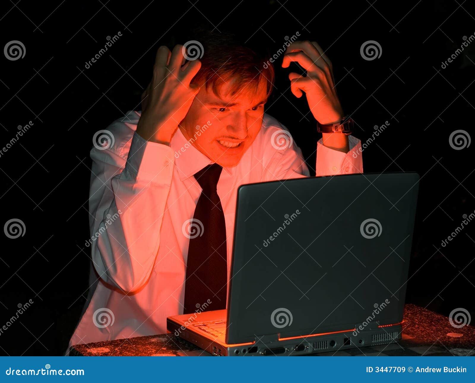 De hakker van de computer